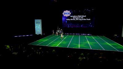 Springboro High School [2020 Varsity Non Building Game Day Semis] 2020 UCA National High School Cheerleading Championship