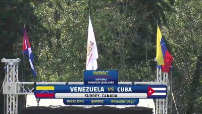 Venezuela vs Cuba | 2019 WBSC Softball Americas Olympic Qualifier