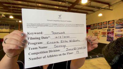Encore Elite - Savage [Level 2 L2 Junior - D2 - Small - B] Varsity All Star Virtual Competition Series: Event VII