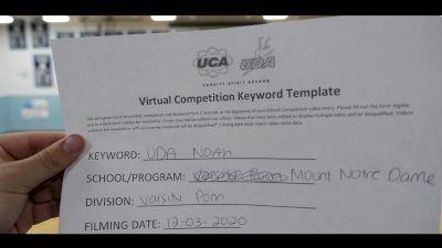 Mount Notre Dame High School [Small Varsity Pom] 2020 UDA North Virtual Dance Challenge