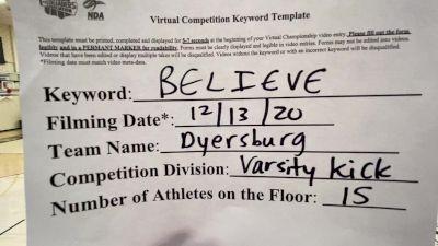 Dyersburg High School [Large Varsity Kick] 2020 NDA December Virtual Championship
