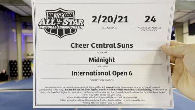 Cheer Central Suns - Midnight [L6 International Open] 2021 NCA All-Star Virtual National Championship