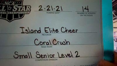 Island Elite - Coral Crush [L2 Senior - D2 - Small] 2021 NCA All-Star Virtual National Championship