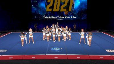 Twist & Shout - Tulsa - Adam & Eve [2021 L6 International Open Coed Non Tumbling Finals] 2021 The Cheerleading Worlds