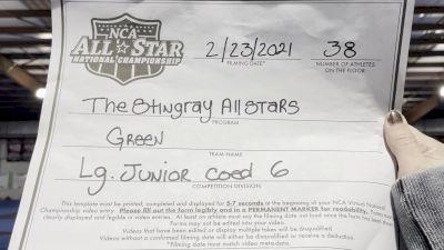 The Stingray Allstars - Green [L6 Junior Coed - Large] 2021 NCA All-Star Virtual National Championship