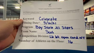 Bay State All Stars - Suns [L6 International Open Coed - NT] 2021 Spirit Festival Virtual Nationals