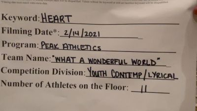 Peak Athletics [Youth - Contemporary/Lyrical] 2021 NCA & NDA Virtual February Championship