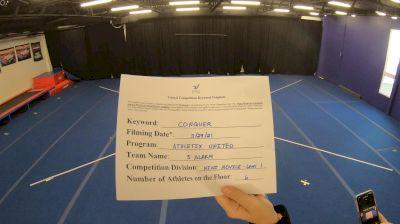 Athletix United - 5 Alarm [L1 Mini - Novice] 2021 Varsity All Star Winter Virtual Competition Series: Event V