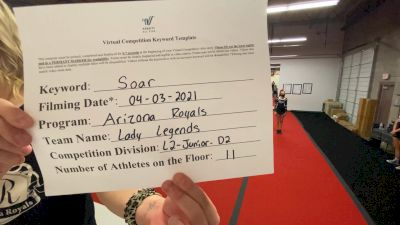 Arizona Royals - Lady Legends [L2 Junior - D2 - Small] 2021 The Regional Summit Virtual Championships