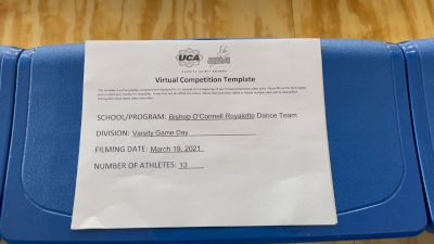 Bishop O'Connell High School [Varsity - Game Day] 2021 UCA & UDA March Virtual Challenge