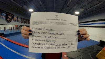 TSC ALLSTARS - Black Ops [L3 Senior - D2 - Medium] 2021 Varsity All Star Winter Virtual Competition Series: Event V