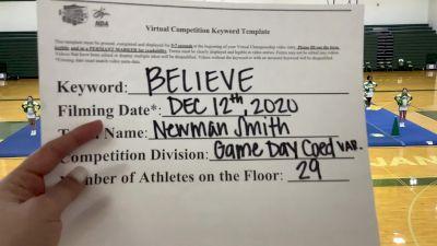 Newman Smith High School [Game Day Varsity Coed] 2020 NCA December Virtual Championship