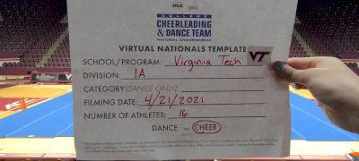 Virginia Tech [Virtual Division IA Finals] 2021 UCA & UDA College Cheerleading & Dance Team National Championship