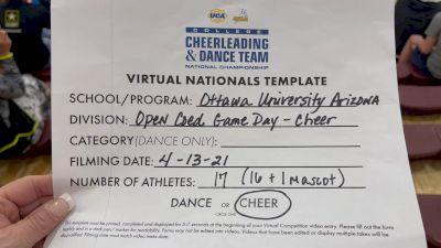 Ottawa University Arizona [Virtual Small Coed Game Day - Cheer Finals] 2021 UCA & UDA College Cheerleading & Dance Team National Championship