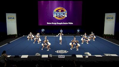 Baton Rouge Bengals Senior White [2021 Trad Rec Non Aff 14Y Finals] 2021 UCA National High School Cheerleading Championship