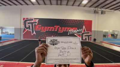 GymTyme All-Stars - Illinois - Bettys [L1 Youth - Small - B] 2021 NCA All-Star Virtual National Championship