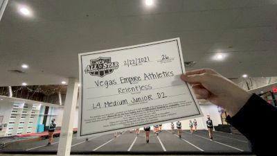Vegas Empire Athletics - Relentless [L4 Junior - D2 - Medium] 2021 NCA All-Star Virtual National Championship