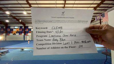 Louisiana Cheer Force - Louisiana Cheer Force - Baby Blue [L1 Mini - Medium] 2021 The Regional Summit Virtual Championships