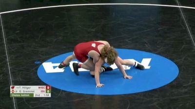 285 Quarterfinal, Trent Hillger, Wisconsin vs Gannon Gremmel, Iowa State