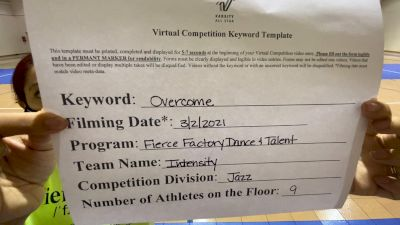 Fierce Factory Dance & Talent - Intensity [Junior - Jazz] 2021 Spirit Sports: Virtual Duel in the Desert