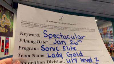 Sonic Elite All Stars - Lady Gold [L2 - U17] 2021 ATC International Virtual Championship