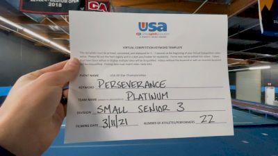 The California All Stars - Ontario - Platinum [L3 Senior] 2021 USA All Star Virtual Championships