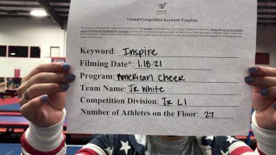 American Cheer - Junior White [L1 Junior - Medium] 2021 GSSA DI & DII Virtual Championship