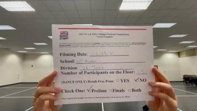 University of Texas Dance Team [Virtual Jazz Division IA Prelims] 2021 NCA & NDA Collegiate Cheer & Dance Championship