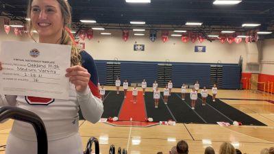 Oakland High School [Medium Varsity Virtual Finals] 2021 UCA National High School Cheerleading Championship