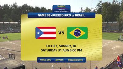 Puerto Rico vs Brazil | 2019 WBSC Softball Americas Olympic Qualifier