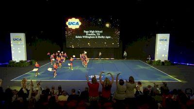 Page High School [2020 Medium Varsity Division II Semis] 2020 UCA National High School Cheerleading Championship