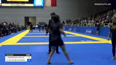 JESSICA RODRIGUEZ NIEVES vs ANA TALITA DE OLIVEIRA ALENCAR 2021 World IBJJF Jiu-Jitsu No-Gi Championship