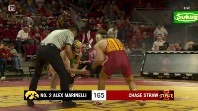 165 lbs - Alex Marinelli, Iowa vs Chase Straw, Iowa State