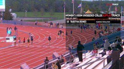 Women's 800m Unseeded, Heat 3
