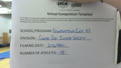 Downingtown East High School [Game Day Junior Varsity] 2021 UCA February Virtual Challenge