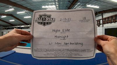 Wylie Elite - Midnight [L1 - Mini - Non-Building] 2021 NCA All-Star Virtual National Championship
