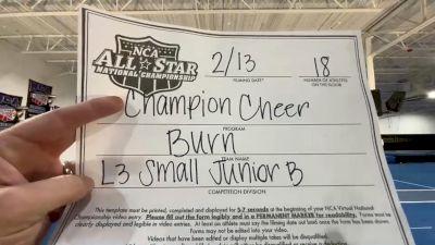 Champion Cheer - Burn [L3 Junior - Small - B] 2021 NCA All-Star Virtual National Championship