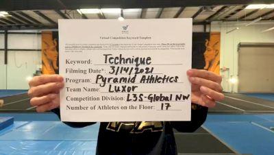 Pyramid Athletics - Luxor [L3 Senior - Global NW] 2021 Varsity All Star Winter Virtual Competition Series: Event IV