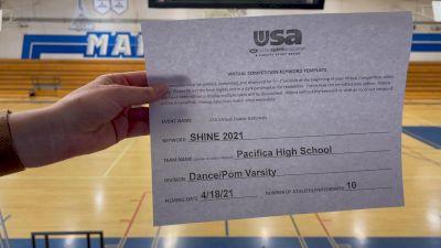 Pacifica High School [Dance/Pom Varsity] 2021 USA Spirit & Dance Virtual National Championships