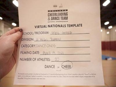 University of MassachusettsAmherst [Virtual All-Girl Division IA Finals] 2021 UCA & UDA College Cheerleading & Dance Team National Championship