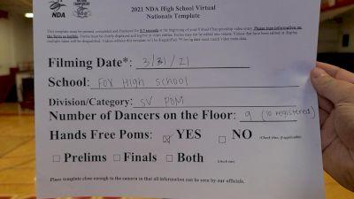 Fox High School [Small Varsity - Pom Virtual Prelims] 2021 NDA High School National Championship