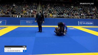 DAVID COTO vs ERIC SALVADOR MARTINEZ 2021 World IBJJF Jiu-Jitsu No-Gi Championship