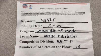 Vestavia Hills High School Varsity Rebelettes [Medium Varsity - Team Performance] 2021 NCA & NDA Virtual February Championship