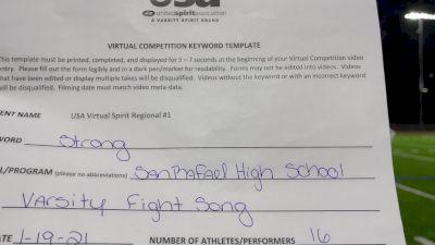 San Rafael [High School - Fight Song - Cheer] 2021 USA Virtual Spirit Regional #1