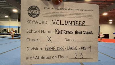 Riverdale High School [Game Day - Large Varsity] 2021 TSSAA Cheer & Dance Virtual State Championships