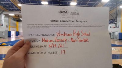 Westview High School [Medium Varsity Non Tumble] 2021 UCA & UDA March Virtual Challenge