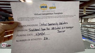 Central Community Athletics [Traditional Open Rec Affiliated 12U] 2021 UCA February Virtual Challenge