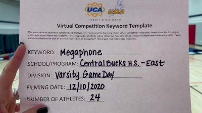 Central Bucks High School-East [Game Day Varsity] 2020 UCA Pocono Virtual Regional