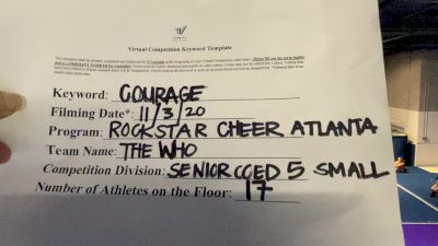 Rockstar Cheer Atlanta - The Who [Level 5 L5 Senior Coed] Varsity All Star Virtual Competition Series: Event III