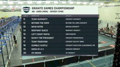 Speedy Sync- Team 3 AsRx Men
